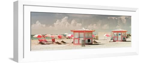 Pink Beach Houses - Miami Beach - Florida-Philippe Hugonnard-Framed Art Print