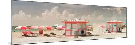 Pink Beach Houses - Miami Beach - Florida-Philippe Hugonnard-Mounted Photographic Print