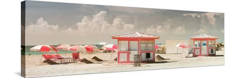 Pink Beach Houses - Miami Beach - Florida-Philippe Hugonnard-Stretched Canvas Print
