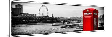 UK Landscape - Red Telephone Booth and River Thames - London - UK - England - United Kingdom-Philippe Hugonnard-Mounted Photographic Print