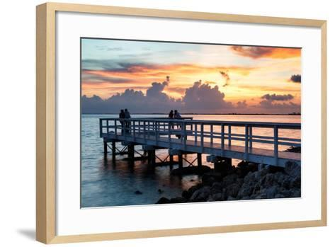 The Pier at Sunset Lovers-Philippe Hugonnard-Framed Art Print