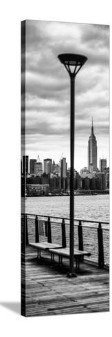 Door Posters - View of Manhattan with the Empire State Building a Jetty in Brooklyn-Philippe Hugonnard-Stretched Canvas Print