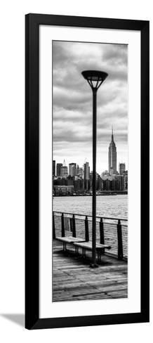 Door Posters - View of Manhattan with the Empire State Building a Jetty in Brooklyn-Philippe Hugonnard-Framed Art Print