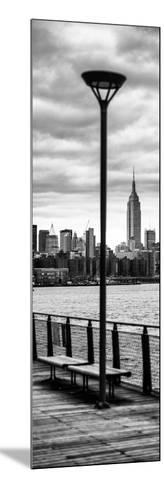 Door Posters - View of Manhattan with the Empire State Building a Jetty in Brooklyn-Philippe Hugonnard-Mounted Photographic Print