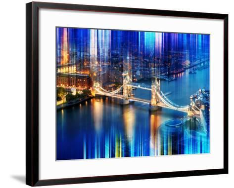 Urban Stretch Series - The Tower Bridge over the River Thames by Night - London-Philippe Hugonnard-Framed Art Print