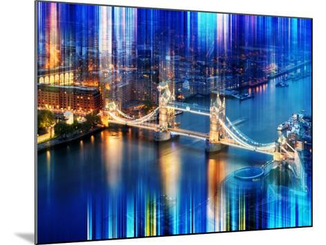 Urban Stretch Series - The Tower Bridge over the River Thames by Night - London-Philippe Hugonnard-Mounted Photographic Print