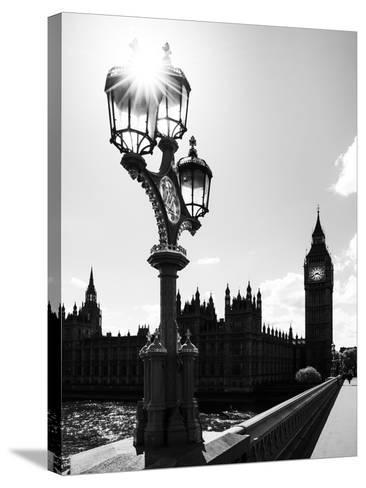 Royal Lamppost UK and Houses of Parliament and Westminster Bridge - Big Ben - London - England-Philippe Hugonnard-Stretched Canvas Print
