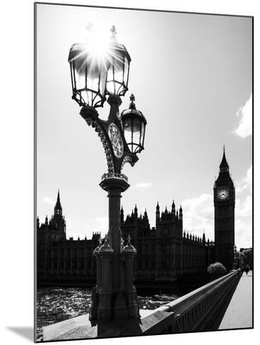 Royal Lamppost UK and Houses of Parliament and Westminster Bridge - Big Ben - London - England-Philippe Hugonnard-Mounted Photographic Print