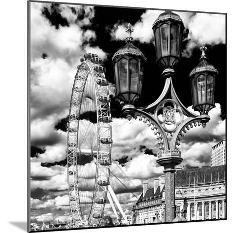 Royal Lamppost UK and London Eye - Millennium Wheel and River Thames - City of London - UK-Philippe Hugonnard-Mounted Photographic Print