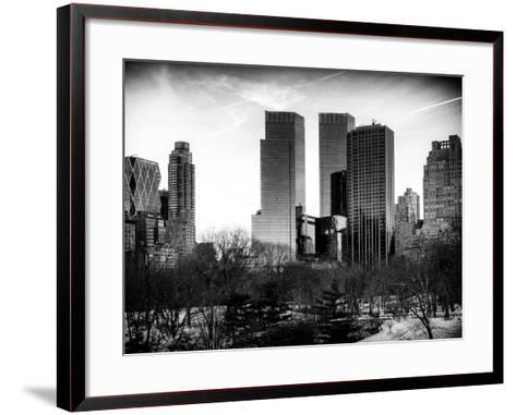 View of Skyscrapers from Central Park in Winter - Manhattan - New York City - United States - USA-Philippe Hugonnard-Framed Art Print