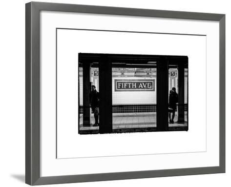 Moment of Life in NYC Subway Station to the Fifth Avenue - Manhattan - New York City-Philippe Hugonnard-Framed Art Print