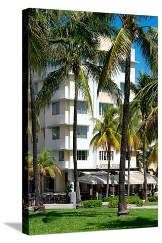 Art Deco Architecture of Ocean Drive - Miami Beach - Florida-Philippe Hugonnard-Stretched Canvas Print
