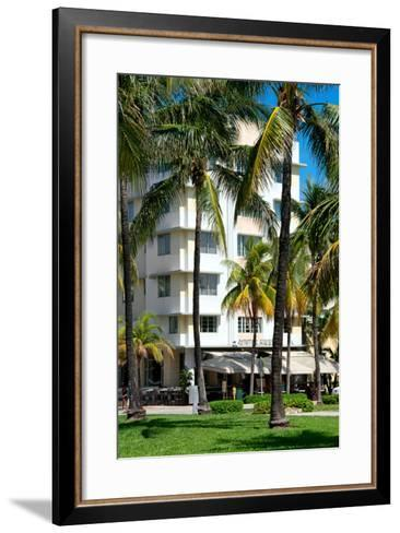 Art Deco Architecture of Ocean Drive - Miami Beach - Florida-Philippe Hugonnard-Framed Art Print