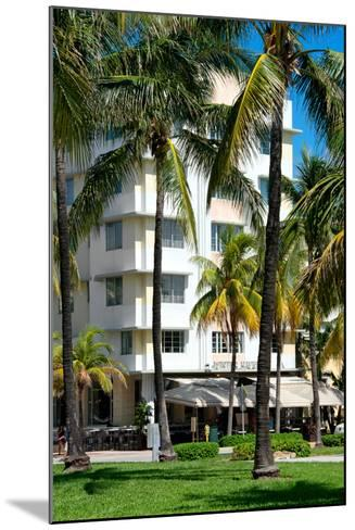 Art Deco Architecture of Ocean Drive - Miami Beach - Florida-Philippe Hugonnard-Mounted Photographic Print