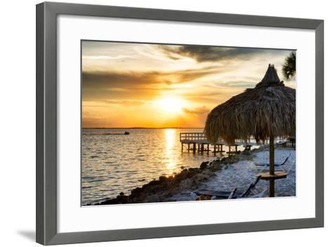 Private Beach at Sunset-Philippe Hugonnard-Framed Art Print