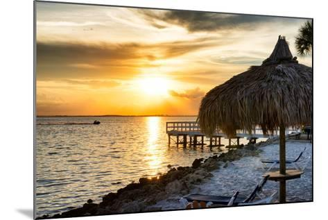 Private Beach at Sunset-Philippe Hugonnard-Mounted Photographic Print