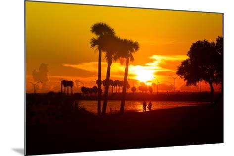Romantic Walk along the Ocean at Sunset-Philippe Hugonnard-Mounted Photographic Print