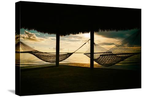 Two Hammocks at Sunset - Florida-Philippe Hugonnard-Stretched Canvas Print