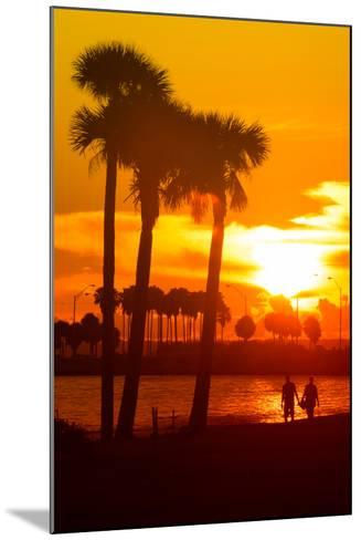 Romantic Walk along the Ocean at Sunset-Philippe Hugonnard-Mounted Photographic Print