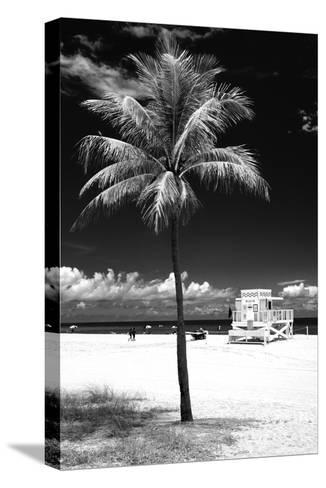 South Miami Beach Landscape with Life Guard Station - Florida - USA-Philippe Hugonnard-Stretched Canvas Print