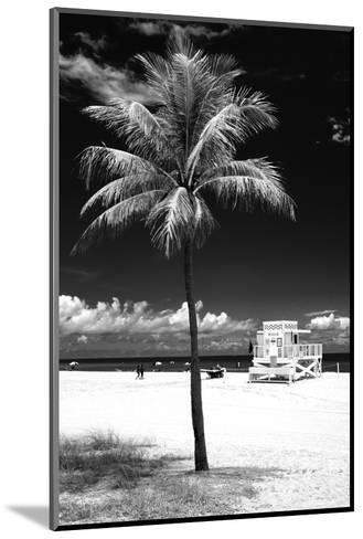 South Miami Beach Landscape with Life Guard Station - Florida - USA-Philippe Hugonnard-Mounted Photographic Print