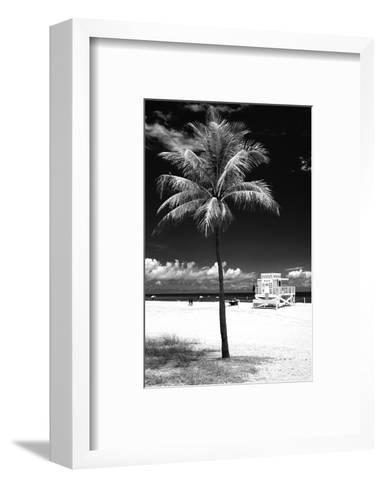 South Miami Beach Landscape with Life Guard Station - Florida - USA-Philippe Hugonnard-Framed Art Print