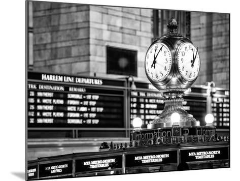 Grand Central Terminal's Four-Sided Seth Thomas Clock - Manhattan - New York-Philippe Hugonnard-Mounted Photographic Print