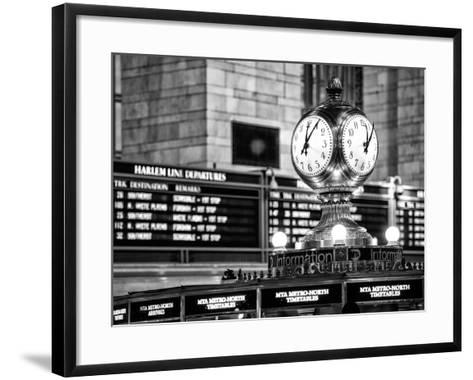 Grand Central Terminal's Four-Sided Seth Thomas Clock - Manhattan - New York-Philippe Hugonnard-Framed Art Print
