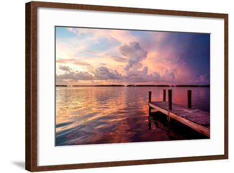 Wooden Jetty at Sunset-Philippe Hugonnard-Framed Art Print