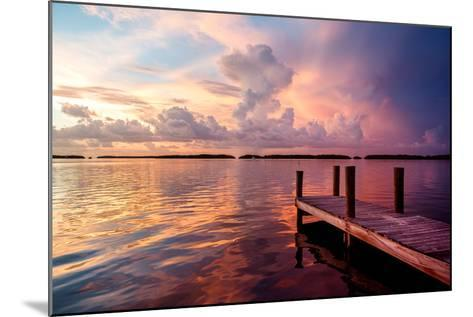 Wooden Jetty at Sunset-Philippe Hugonnard-Mounted Photographic Print