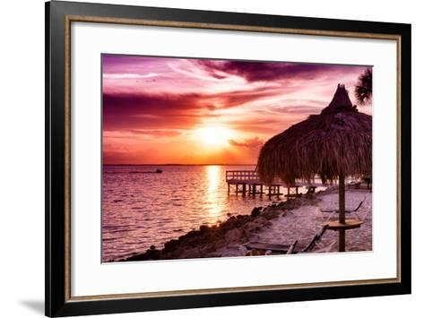 Private Beach at Sunset-Philippe Hugonnard-Framed Art Print