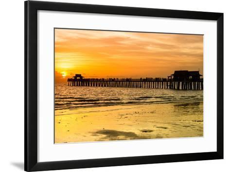 Naples Florida Pier at Sunset-Philippe Hugonnard-Framed Art Print