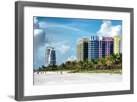 Colorful Architecture - Miami Beach - Florida-Philippe Hugonnard-Framed Art Print