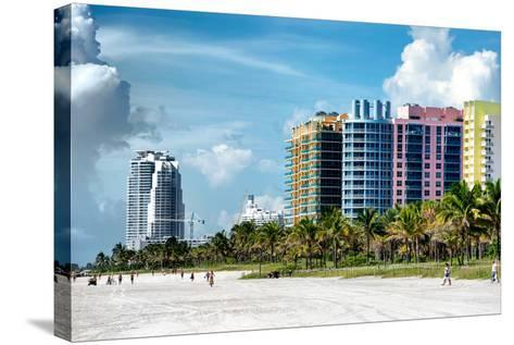 Colorful Architecture - Miami Beach - Florida-Philippe Hugonnard-Stretched Canvas Print
