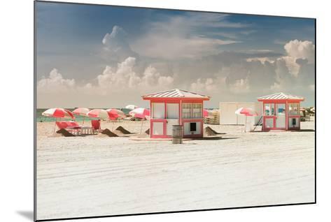 Pink Beach Houses - Miami Beach - Florida-Philippe Hugonnard-Mounted Photographic Print