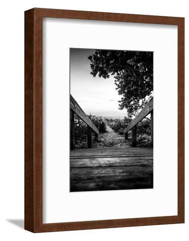 Boardwalk on the Beach at Sunset - Florida-Philippe Hugonnard-Framed Art Print