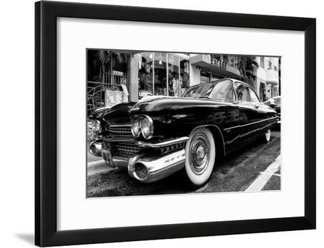 Classic Cars on South Beach - Miami - Florida-Philippe Hugonnard-Framed Art Print