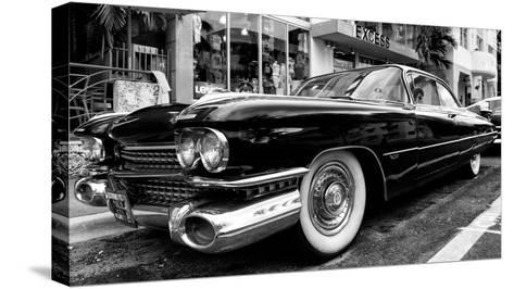 Classic Cars on South Beach - Miami - Florida-Philippe Hugonnard-Stretched Canvas Print