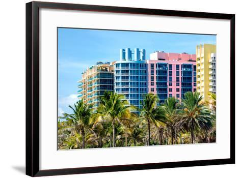 Art Deco Colors Architecture of Miami Beach - South Beach - Florida-Philippe Hugonnard-Framed Art Print