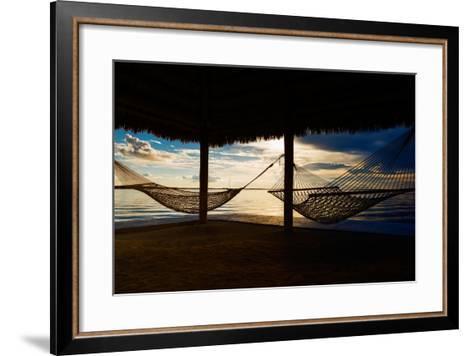 Two Hammocks at Sunset - Florida-Philippe Hugonnard-Framed Art Print