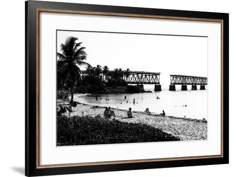 Old Bahia Honda Bridge Florida Keys - Bridges Roads-Philippe Hugonnard-Framed Art Print