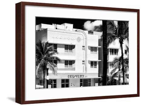 Art Deco Architecture of Ocean Drive - Miami Beach - Florida-Philippe Hugonnard-Framed Art Print