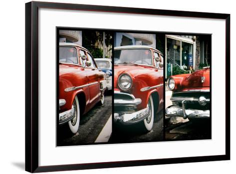 Triptych Collection - Classic Antique Ford of Art Deco District - Miami - Florida-Philippe Hugonnard-Framed Art Print