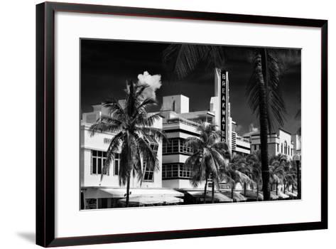 Art Deco Architecture of Miami Beach - The Esplendor Hotel Breakwater South Beach - Ocean Drive-Philippe Hugonnard-Framed Art Print