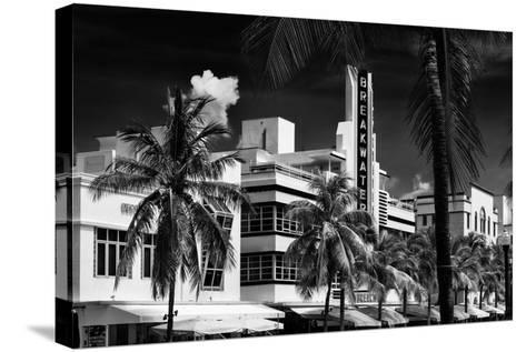 Art Deco Architecture of Miami Beach - The Esplendor Hotel Breakwater South Beach - Ocean Drive-Philippe Hugonnard-Stretched Canvas Print