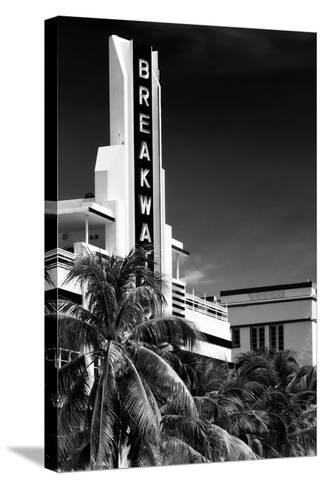 Art Deco Architecture of Miami Beach - The Esplendor Hotel Breakwater South Beach - Ocean Drive-Philippe Hugonnard-Stretched Canvas Print