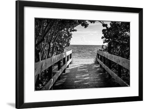 Boardwalk on the Beach-Philippe Hugonnard-Framed Art Print