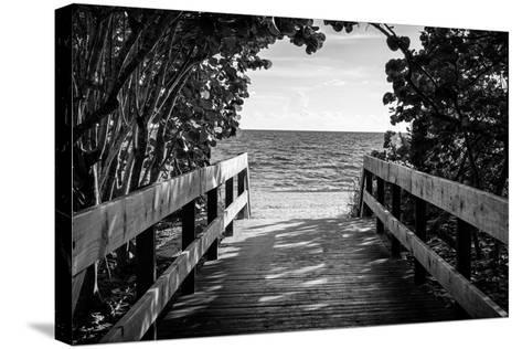 Boardwalk on the Beach-Philippe Hugonnard-Stretched Canvas Print