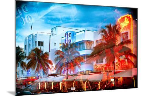 Instants of Series - Colorful Ocean Drive - South Beach - Miami Beach Art Deco Distric - Florida-Philippe Hugonnard-Mounted Photographic Print