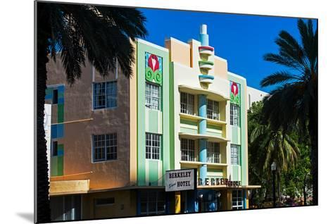The Berkeley Shore Hotel in the Art-Deco District of Miami Beach - Florida-Philippe Hugonnard-Mounted Photographic Print